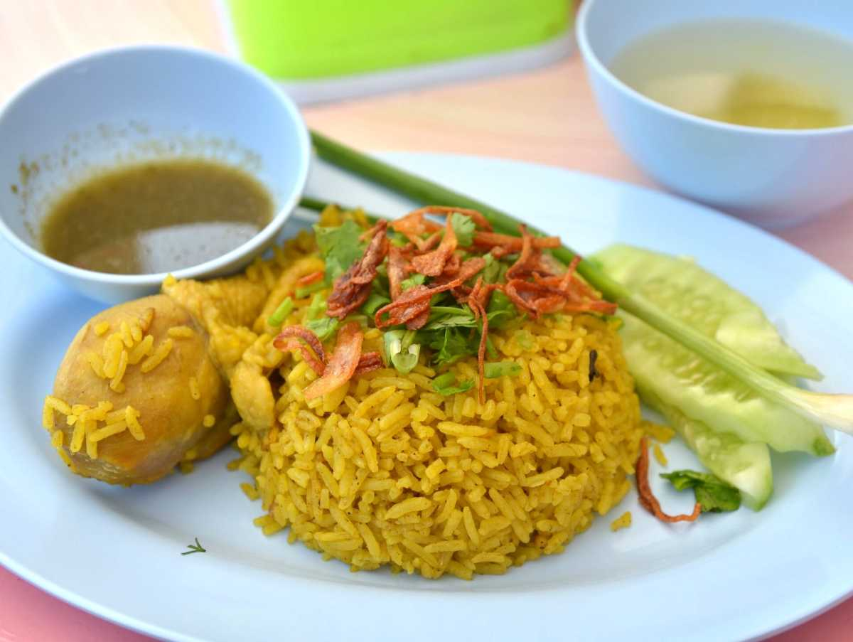 Khao Mok Gai, Chicken Biryani and one of the most Famous Halal Food in Thailand