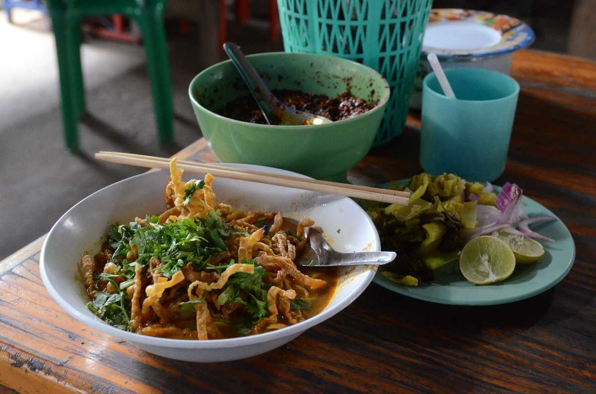Khao Suey, a delicious Thai Halal Food found in Chiang Mai