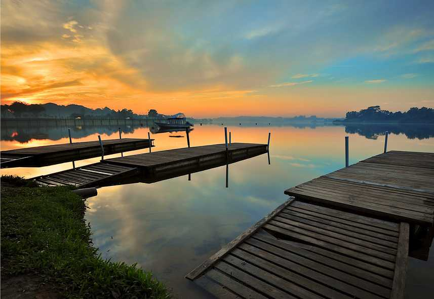 Sunrise at Lower Seletar Reservoir Park