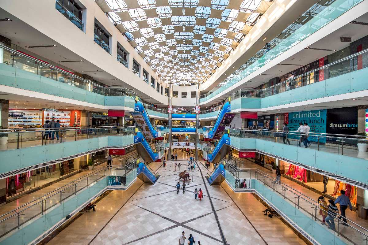 Inside the famous Ambience Mall in Delhi