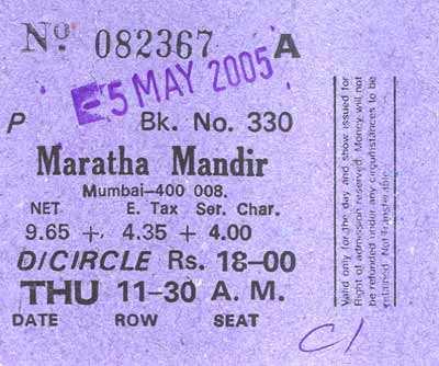 Maratha Mandir Ticket