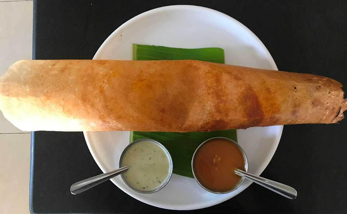 Dosa, the famous Indian dish is available at Dudh Sagar Restaurant.
