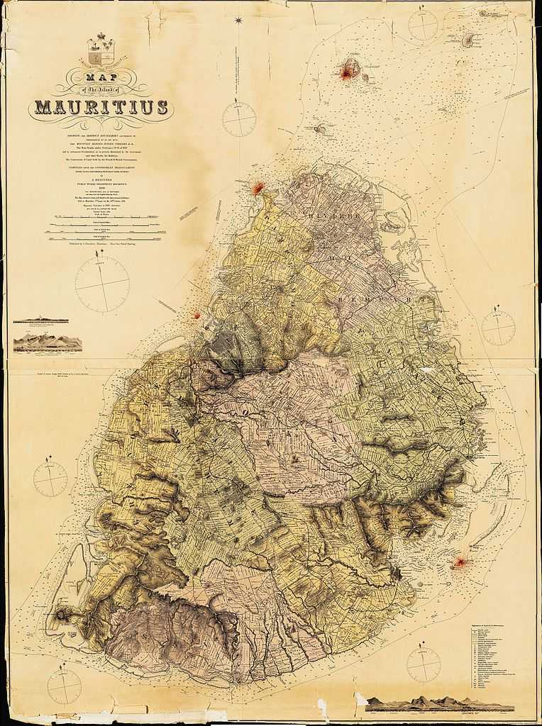Ancient Map of Mauritius, History of Mauritius