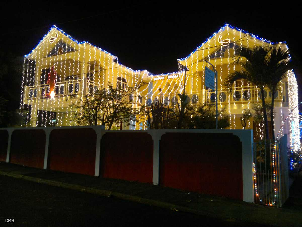 Diwali lights and decorations in Mauritius
