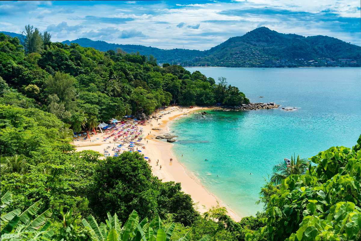 Aerial View of a Beach in Phuket