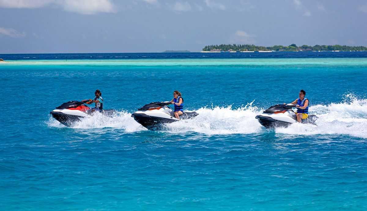 Jet skiing in Maldives