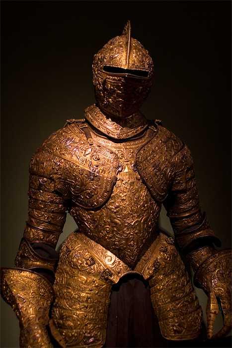 armour, golden shield, museum, Vienna