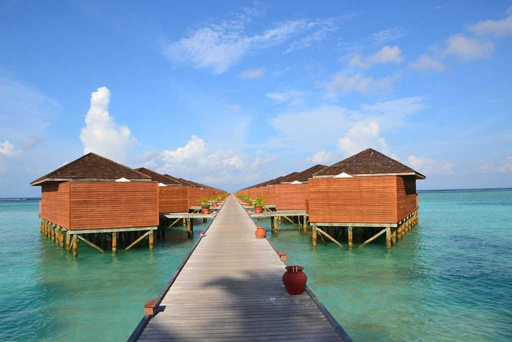 Meeru Island Resort Overwater Bungalows in Maldives