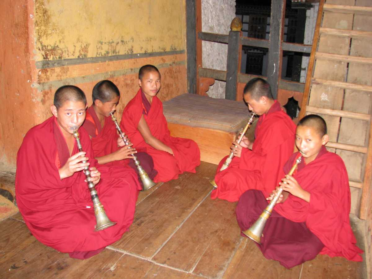 Monks at music