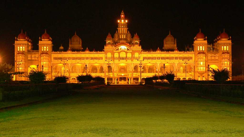 Mysore Palace during Dussera