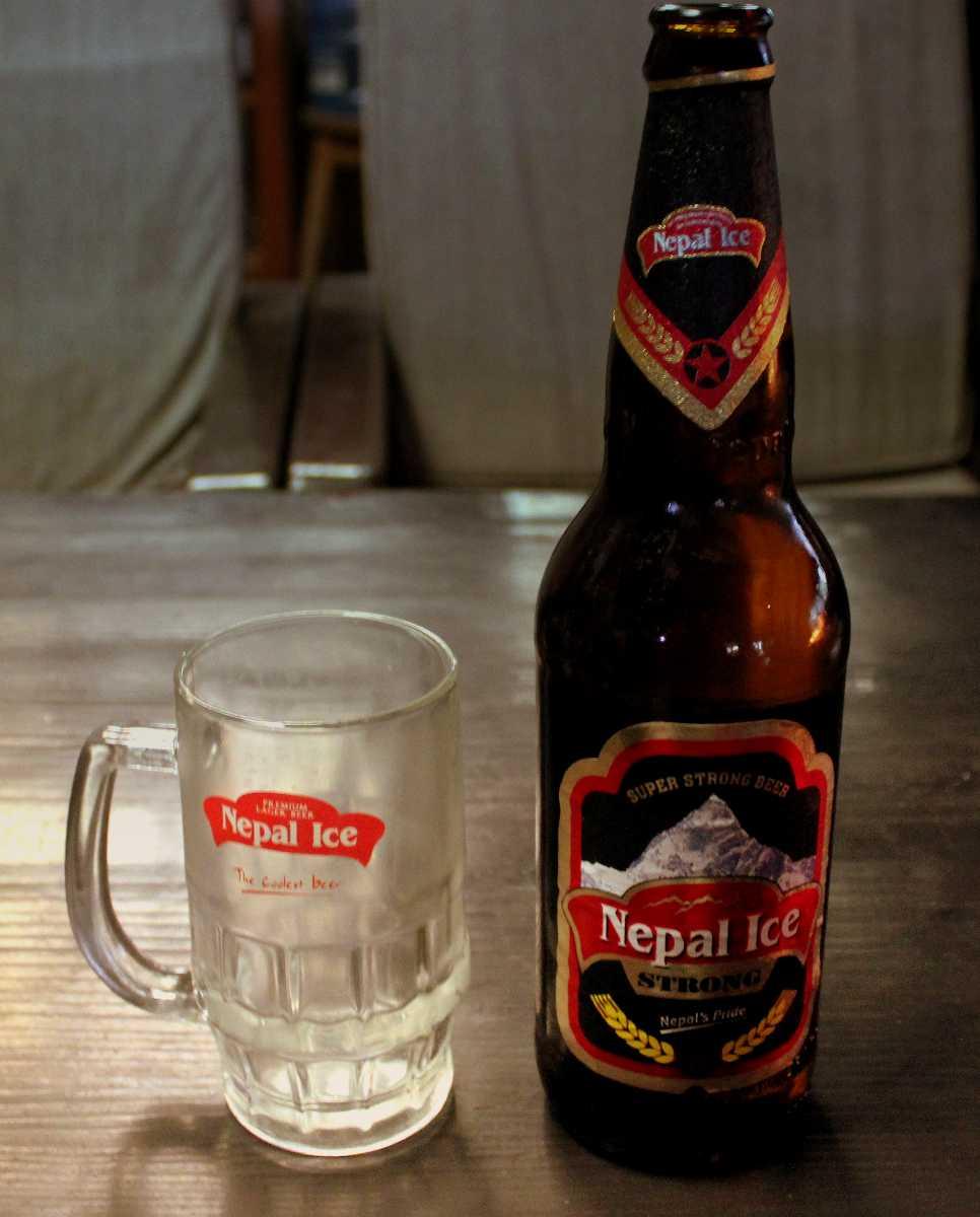 Nepal ice beer in Nepal