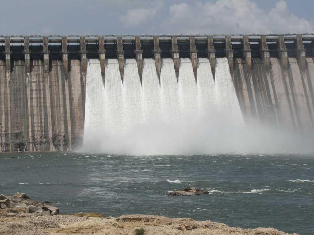 Gates of Nagarjuna Dam