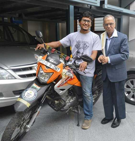 Gaurav with Narayan Murthy