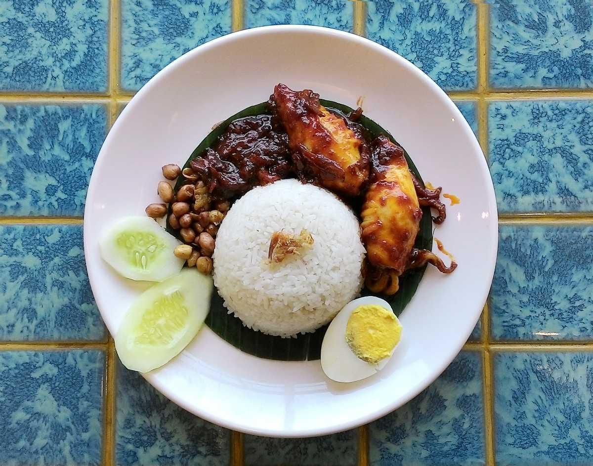 Nasi Lemak, Street Food in Kuala Lumpur