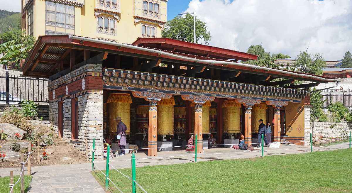 Prayer Wheels at the Memorial Chorten Thimphu