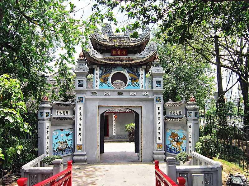 Ngoc Son Temple Near the Hoan Kiem Lake