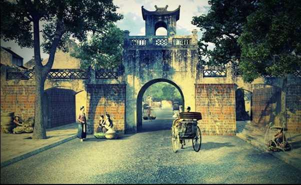 Old City Gate Hanoi Vietnam