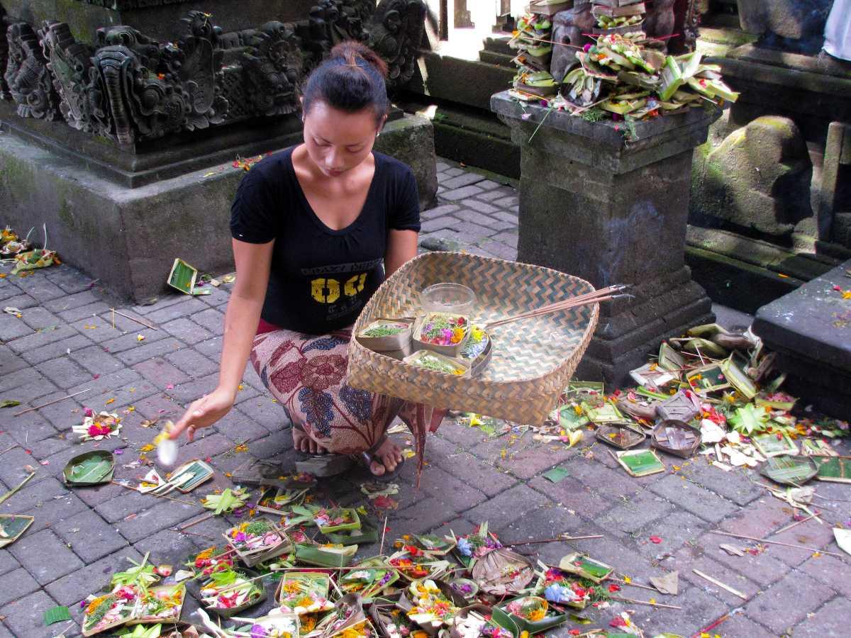 Celebration of Galungan in Bali, Indonesia