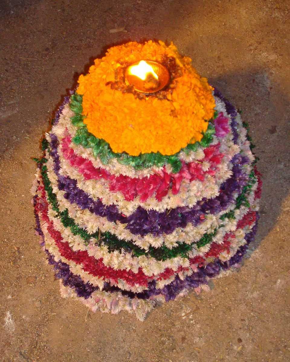 Celebration of Bathukamma