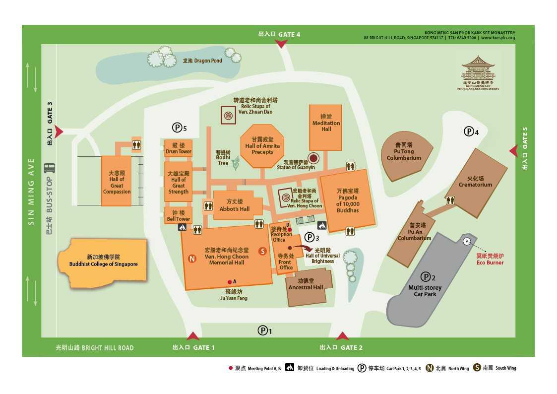 Kong Meng San Phor Kark See Monastery Map