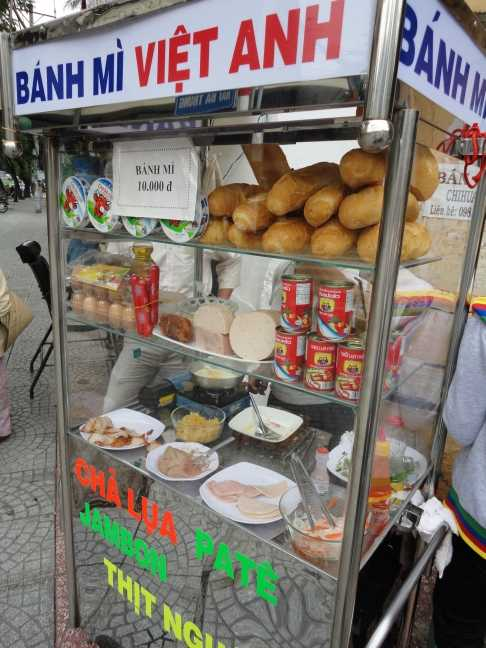 Banh Mi Stall in Pham Ngu Lao Street