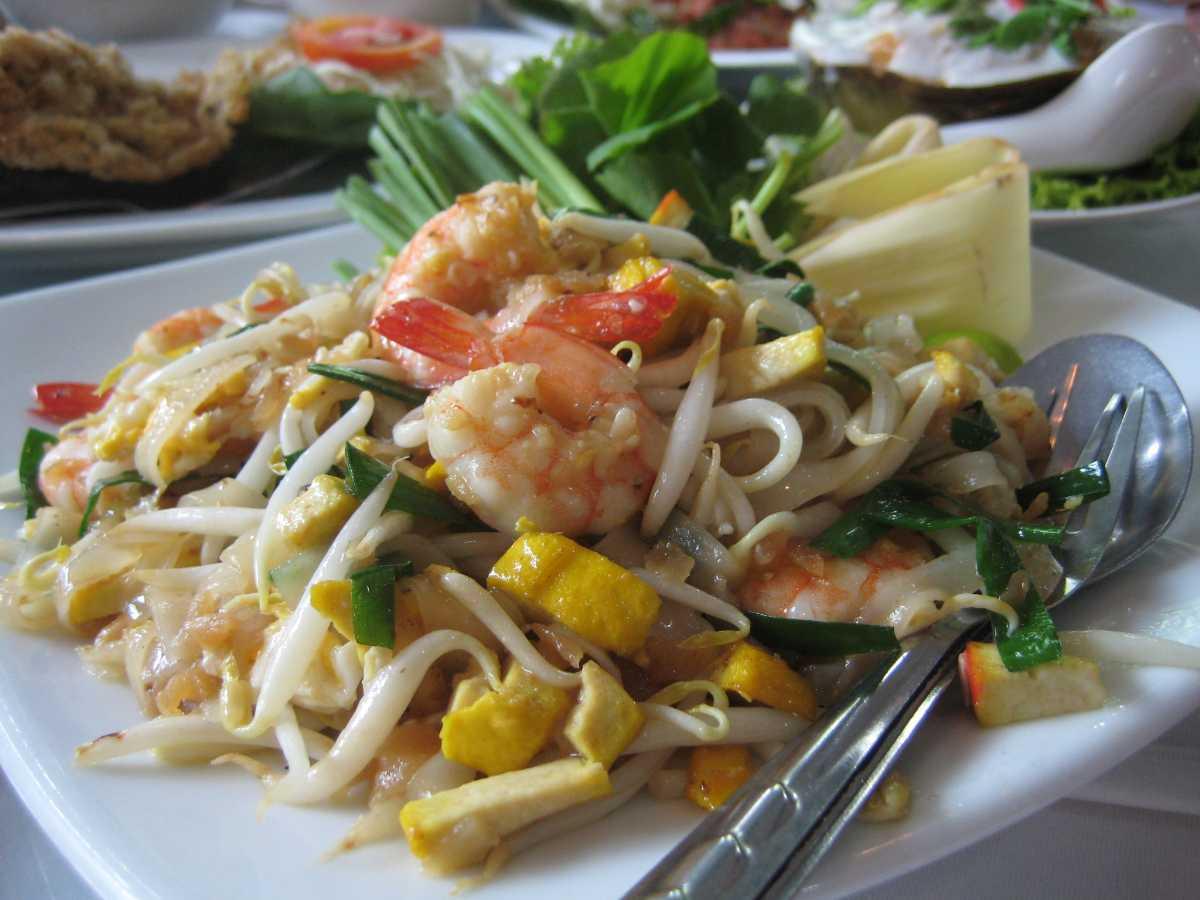 Pad Thai, a Halal Thai Seafood Dish in Pattaya