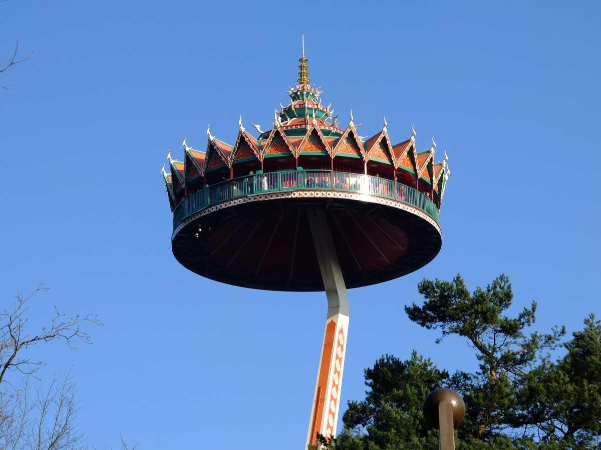 pagode, ride, efteling park