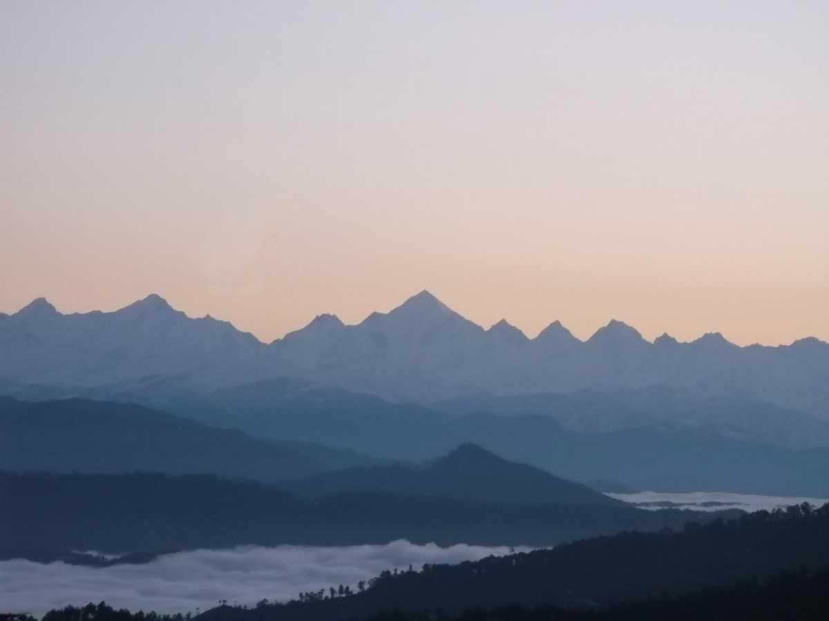 Panchchuli range viewed from Kausani
