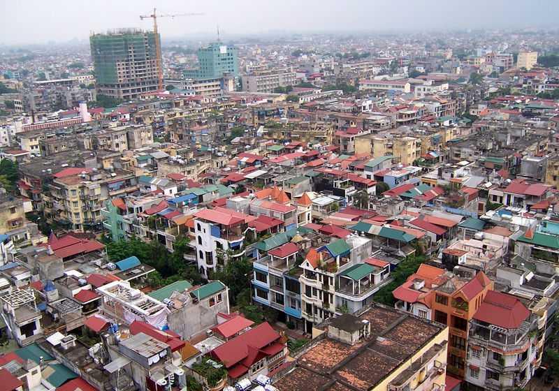Panorama of Hanoi Vietnam