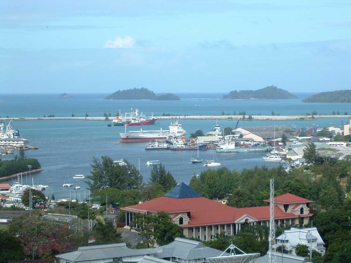 Port Victoria in Seychelles