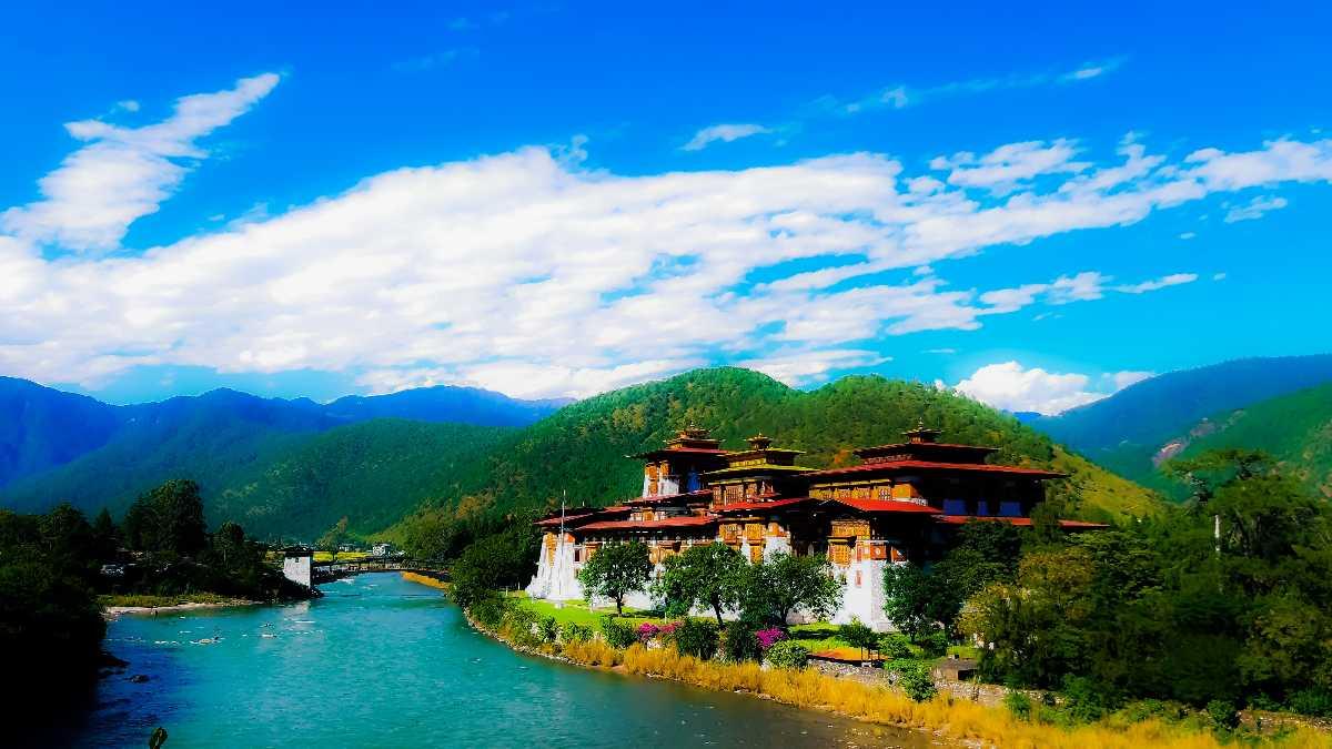 Punakha Town in Bhutan