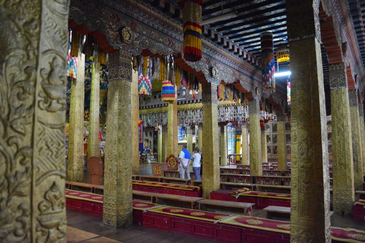 Interiors of Punakha Dzong Bhutan