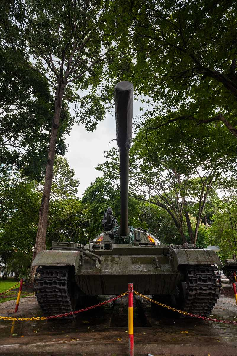Tank Displayed at the Grounds of the Reunification Palace in Ho Chi Minh City