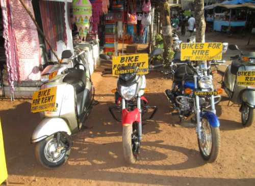 bike renting in goa