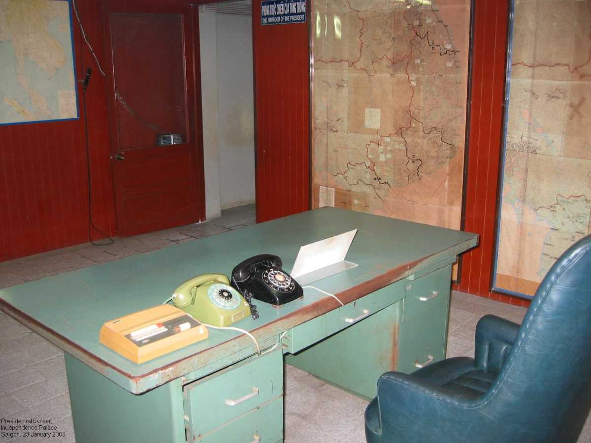 Presidential Bunker at the Reunification Palace in Ho Chi Minh City