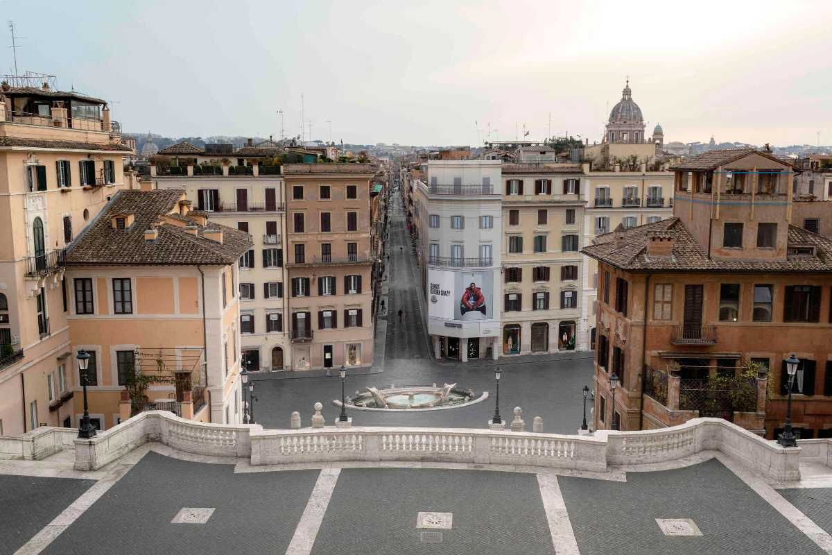 The view from the Spanish Steps.
