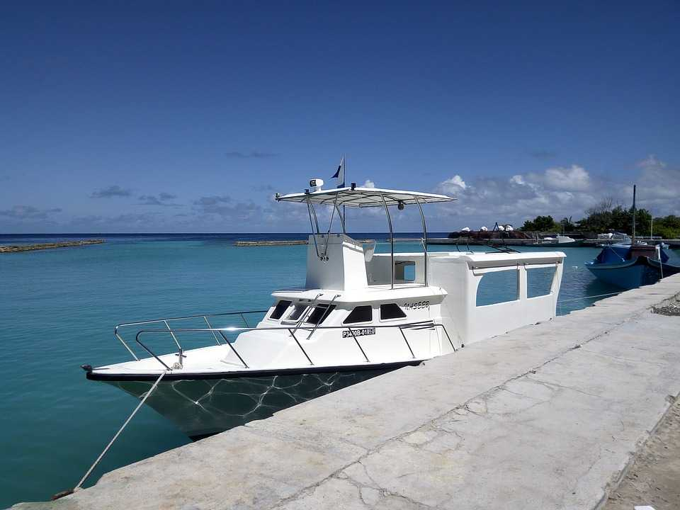 Speedboat - a form of local transport in Maldives