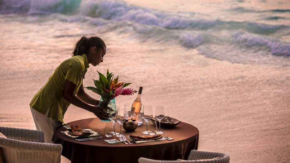 Beachside Dinner, Wedding resorts in seychelles