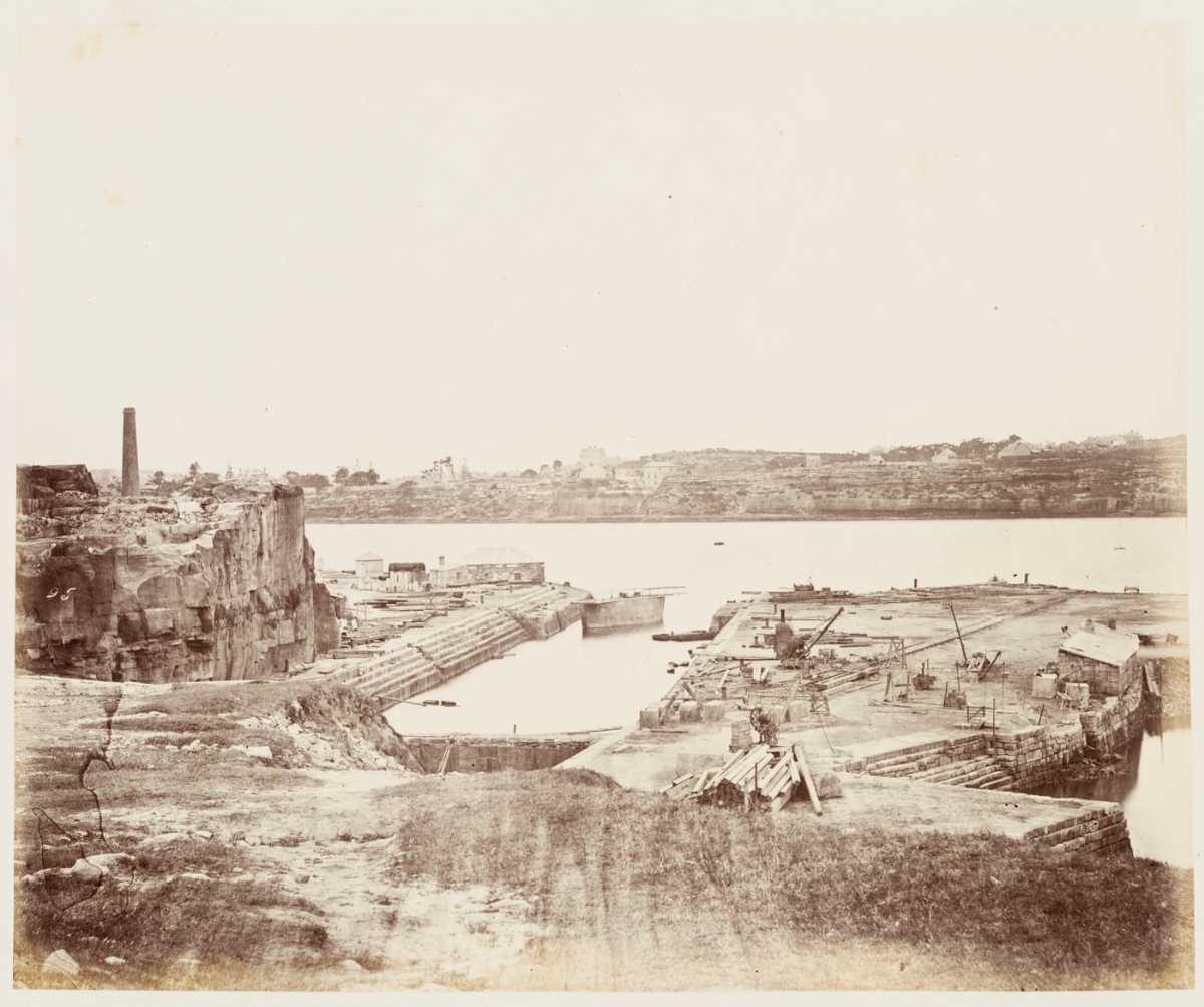 Cockatoo Island Dock 1872