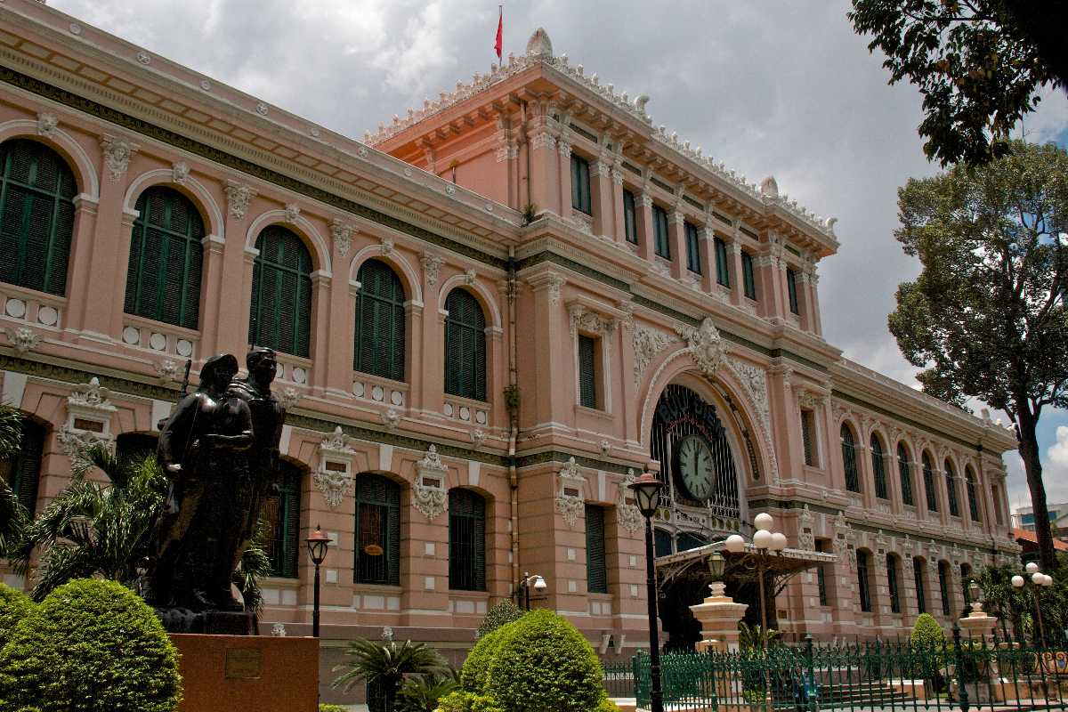 Saigon Central Post Office, one of the many examples of French Colonial Architecture in Ho Chi MInh City