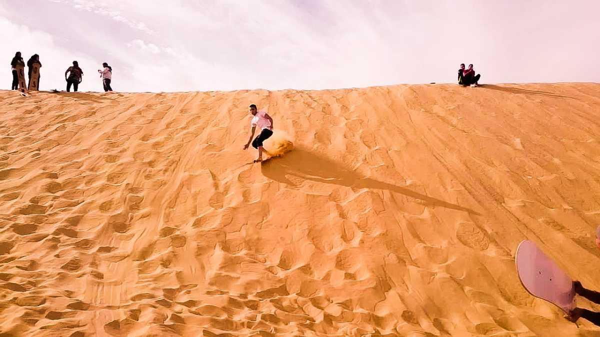 sand Boarding, Desert Safari in Dubai