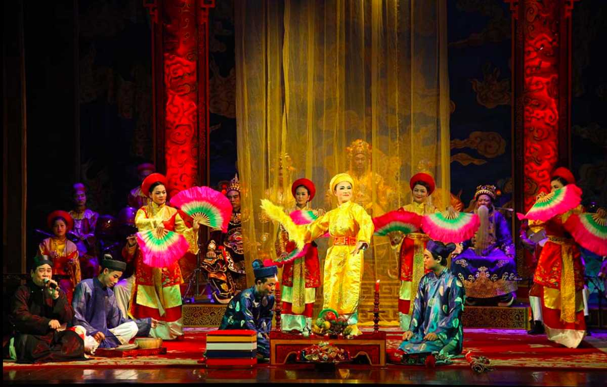 Performance at Vietnam National Tuong Theatre
