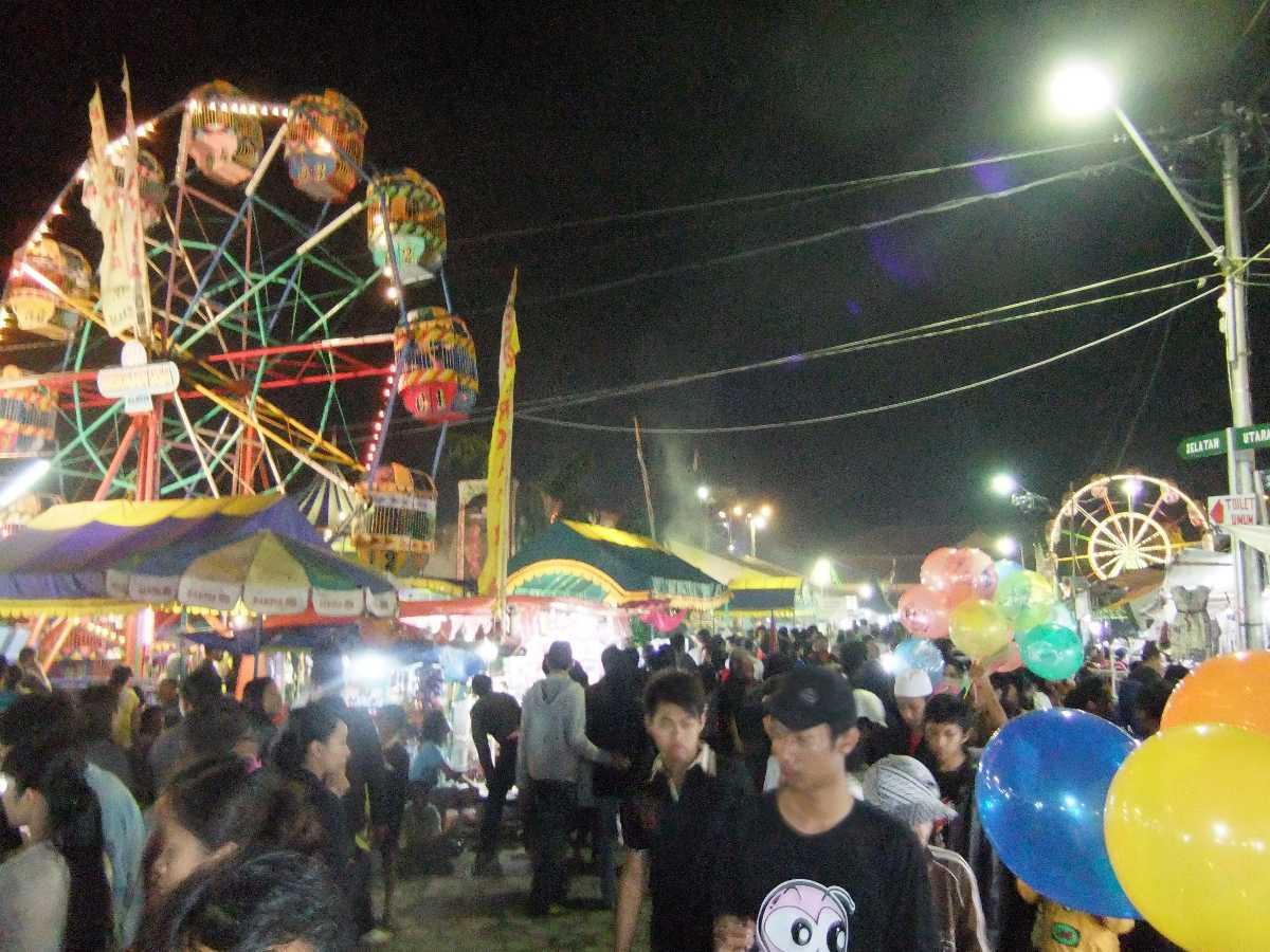 Sekaten Night Market in Yogyakarta Indonesia