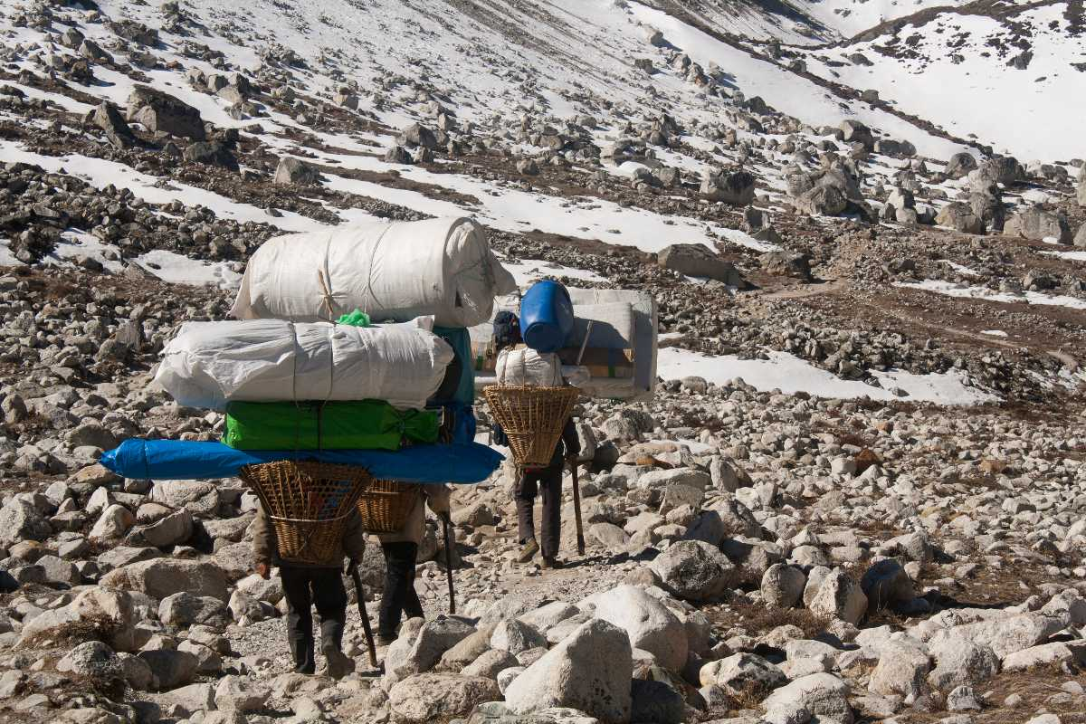 Sherpas are the natural porters