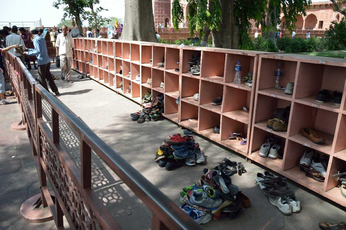 Shoes Outside the Taj Mahal