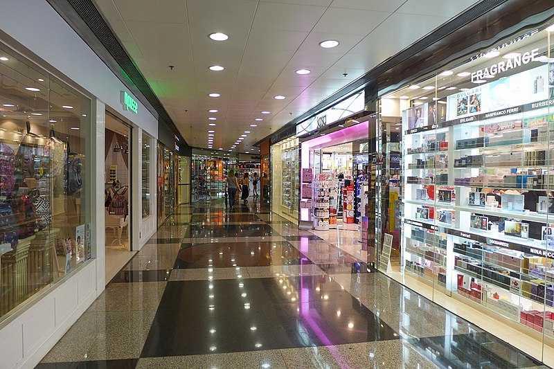 Shopping at the Peak Galleria, Hong Kong