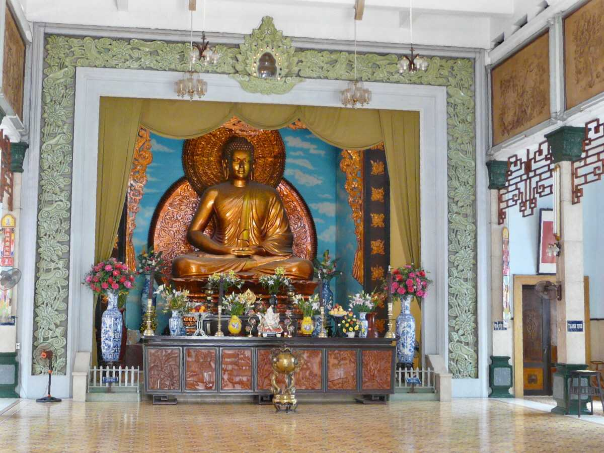 Buddha Statue at Xa Loi Pagoda Ho Chi Minh City