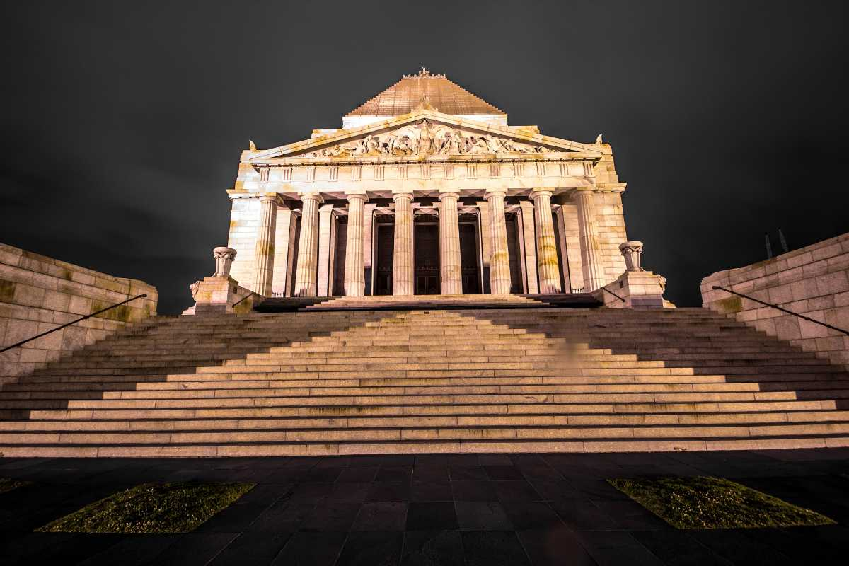 Front View of Shrine of Remembrance Melbourne