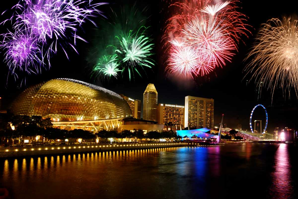 Esplanade, New Year in Singapore