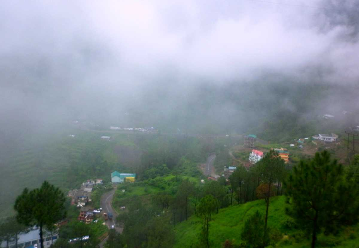 Solan City during Monsoons